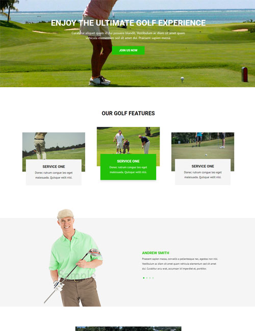 Golf Course - Landing