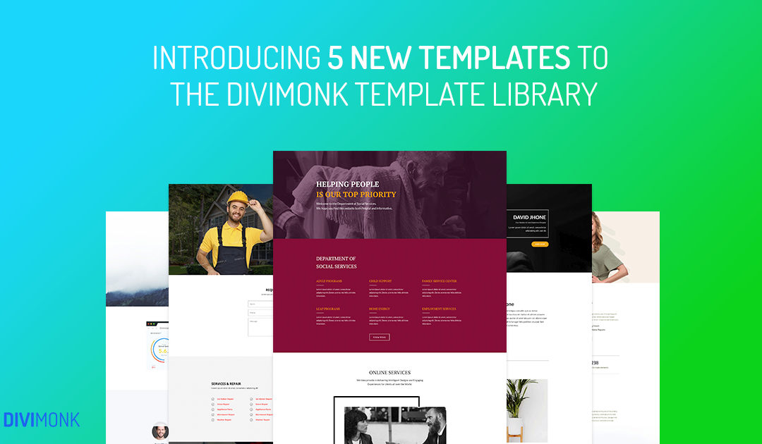 Introducing New Divi Templates to the DiviMonk Library