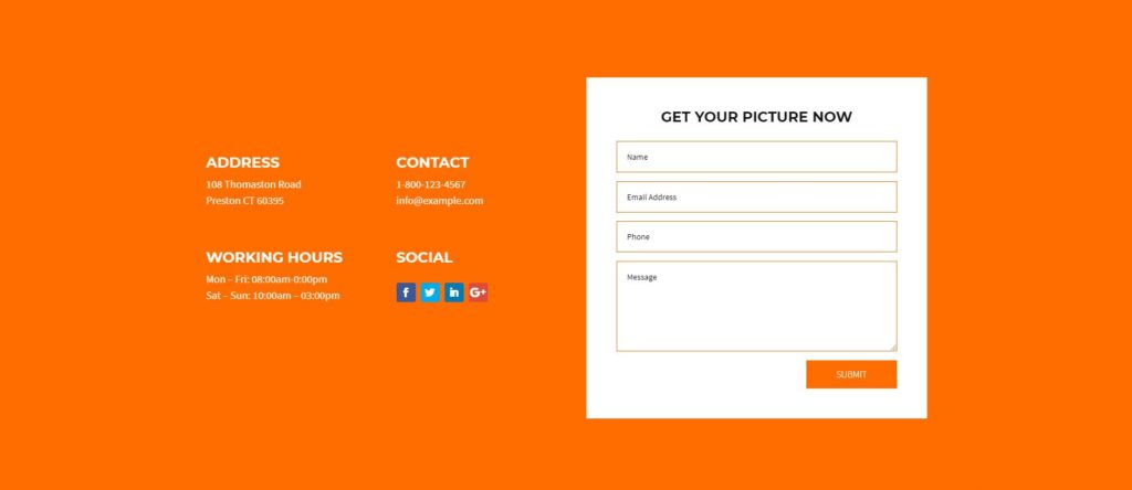 divi-photography-template-contact-section
