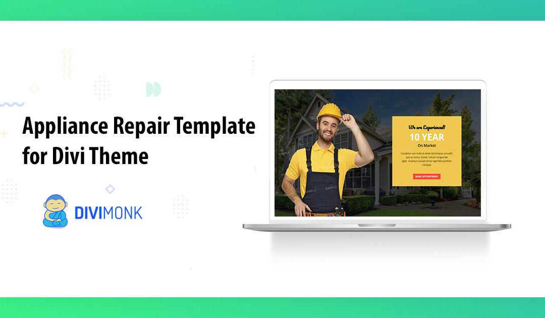 Appliance Repair Template for Divi Theme