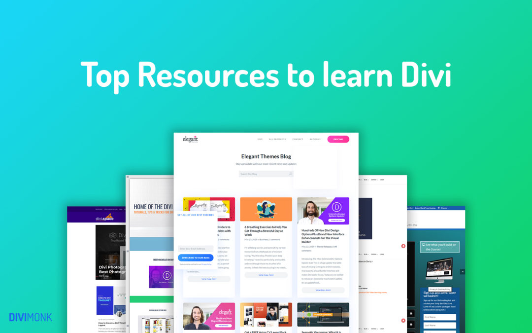 Top Resources to learn Divi