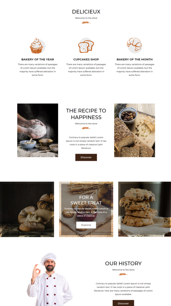 About Section Divi Bakery Template