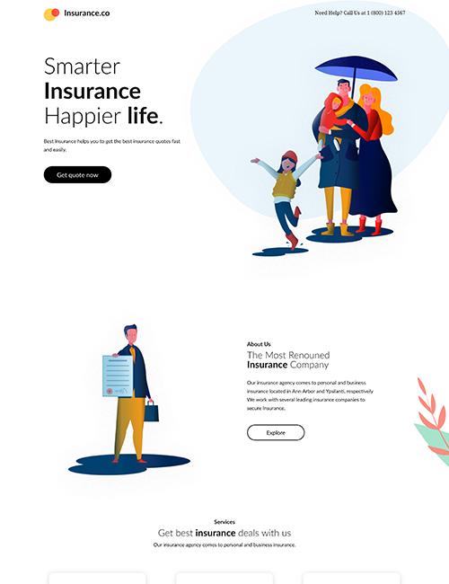 Insurance - Landing