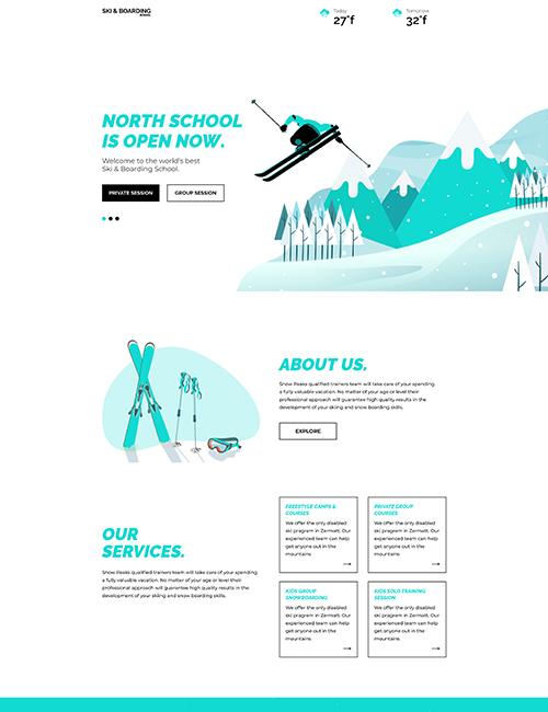 Ski Board - Landing