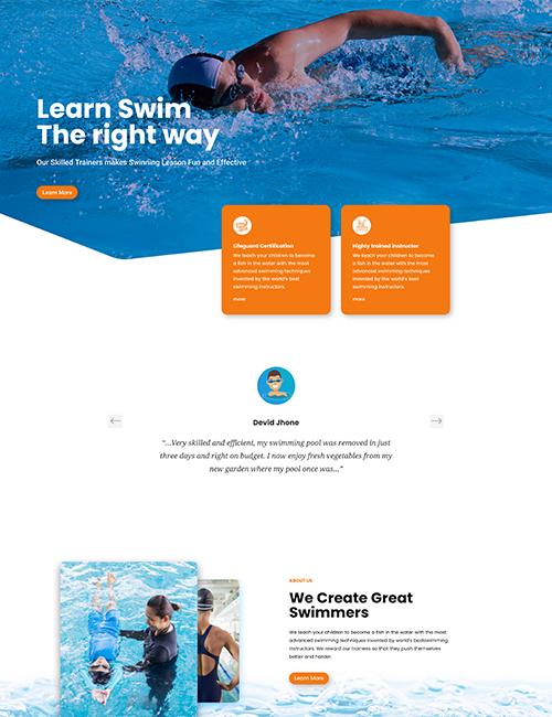 Swimming - Landing