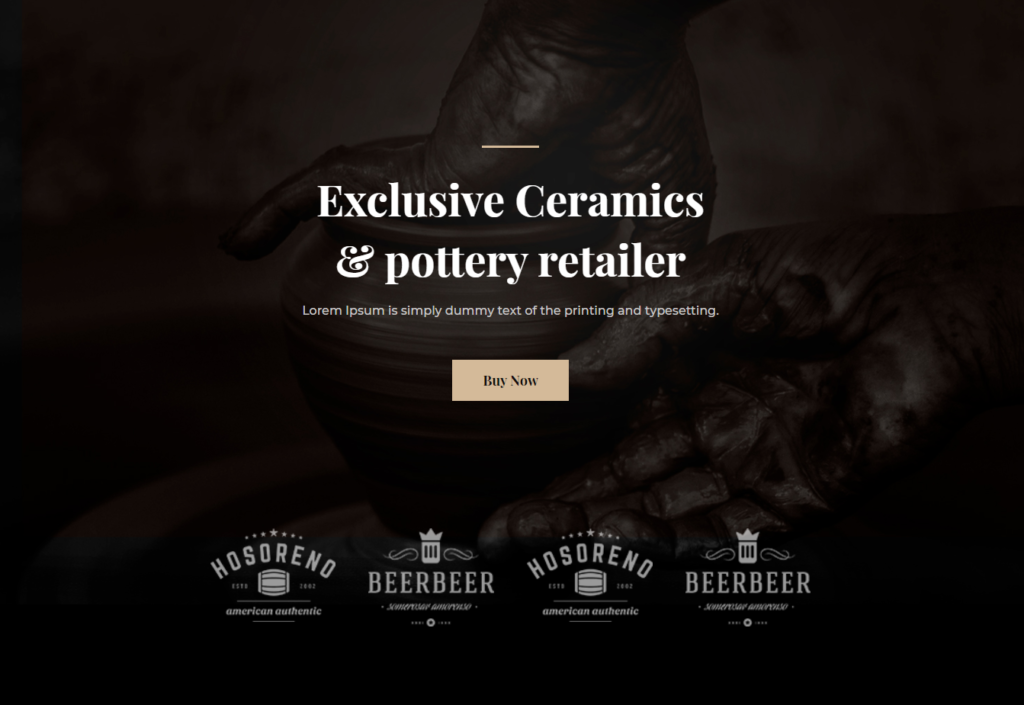 Divi Template for Ceramics & Pottery Business