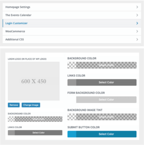 White Label Divi : Customize login page