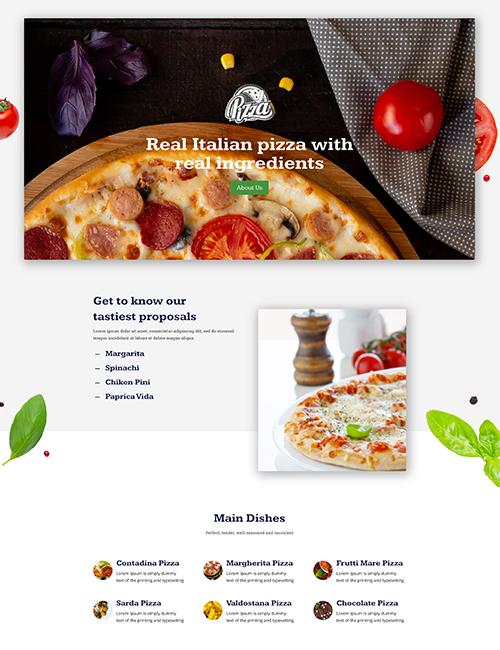 Pizzeria - Landing