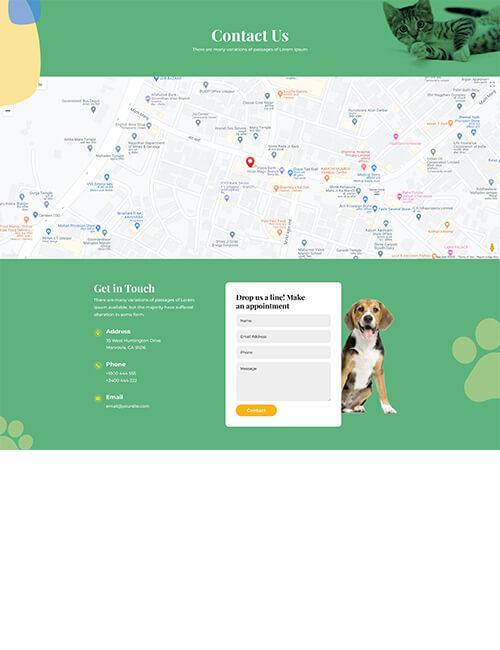 Pet Hospital - Contact